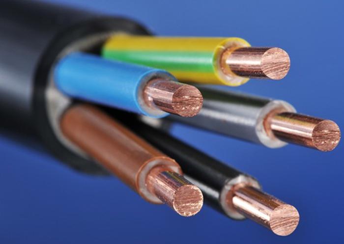 Пятижильный медный кабель